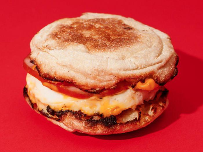 McDonald's – макмаффин с яйцом без ветчины