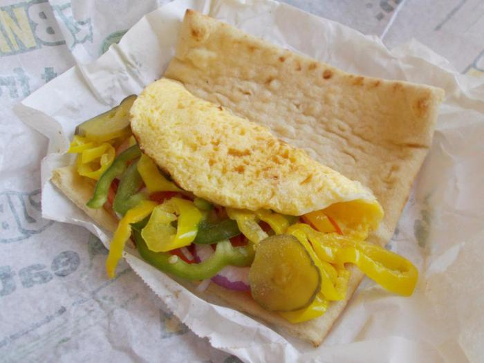 Subway – сэндвич с яйцом и сыром