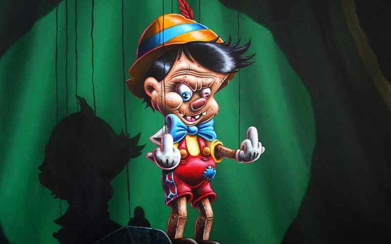 Развратные персонажи Диснея - в картинах Жилена Буске