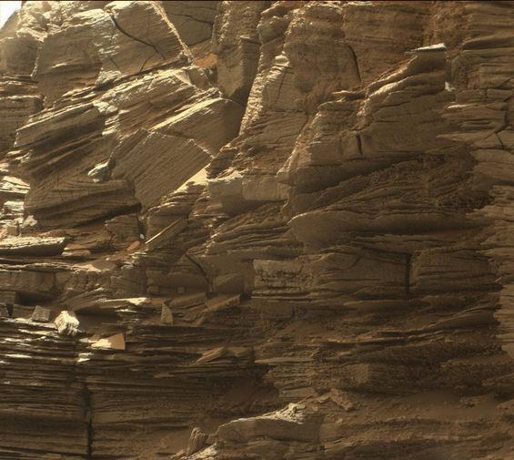 Снимок Марса, сделанный марсоходом Curiosity