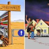 15 жестоких иллюстраций о том, что происходит в современном обществе