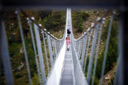 «Europabruecke», самый длинный пешеходный подвеснй мост в мире