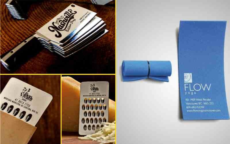 25 креативных идей дизайна визиток