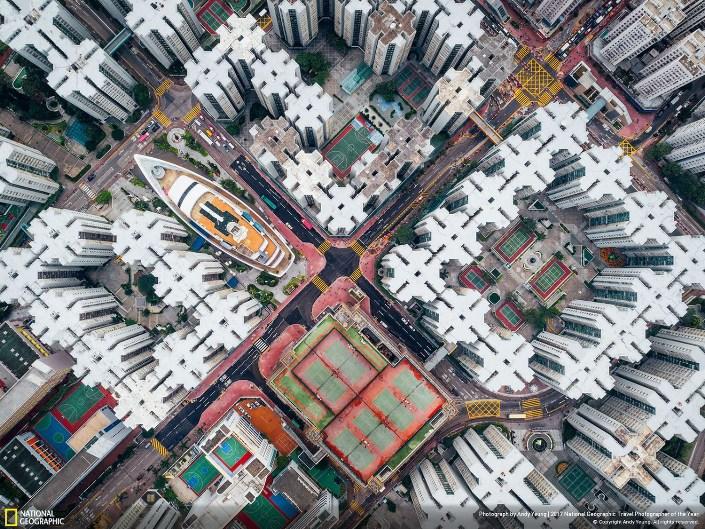 Вид Гонконга с воздуха. Фото: Andy Yeung
