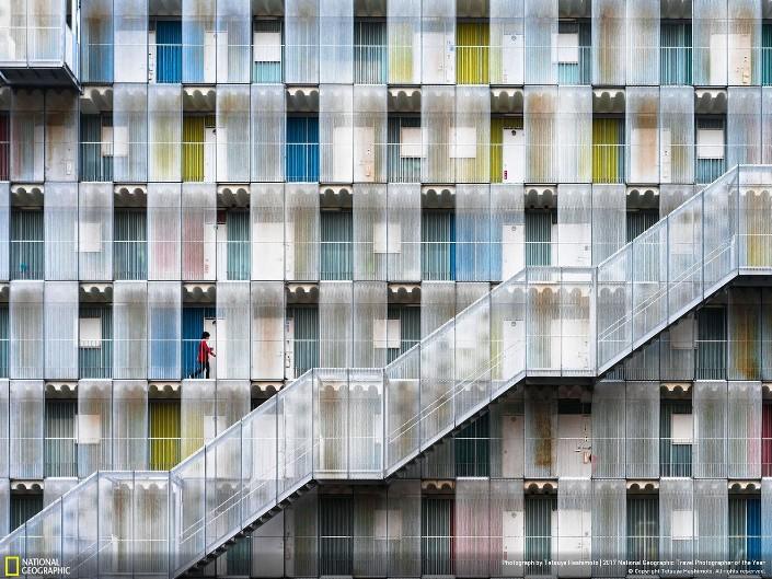 Разноцветные апартаменты, Япония Фото: Tetsuya Hashimoto