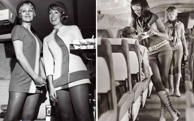 Красота в полете: стюардессы 1960-х годах
