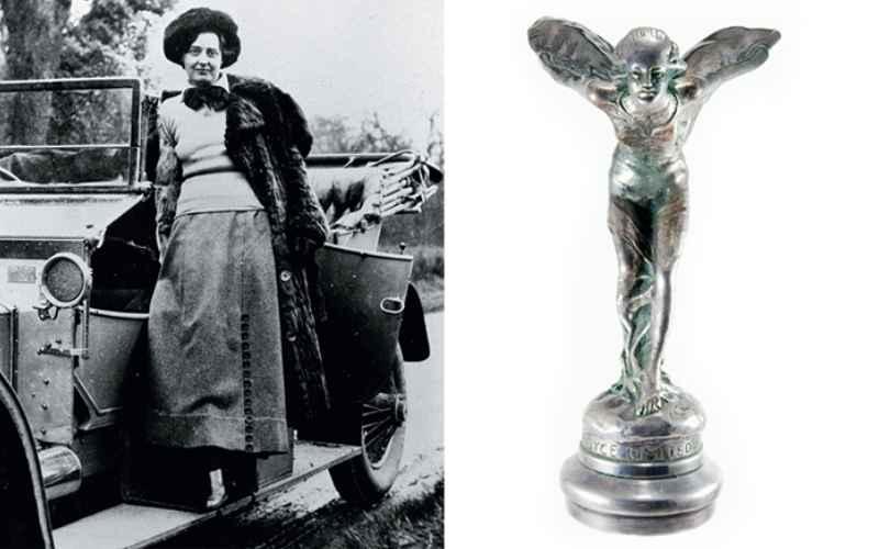 Элеонора Веласко Торнтон стала прототипом статуэтки *Дух Экстаза*, ставшей символом автомобилей марки Роллс-Ройс.