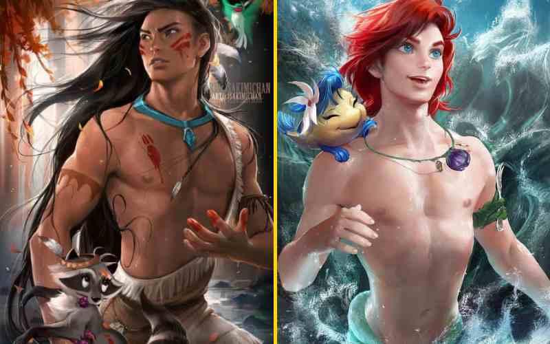 Как бы выглядели герои известных мультфильмов, будь они другого пола