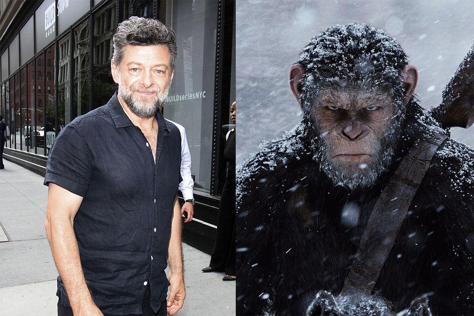 Энди Серкис и его персонаж в «Планете обезьян». Фото: globallookpress.com, кадр из фильма
