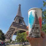 Художник - путешественник и его стаканчик кофе с ним