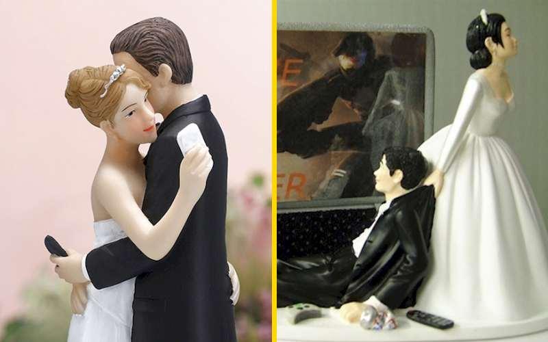 15 смешных, оригинальных идей для Свадебного торта