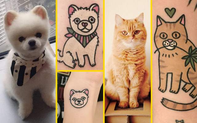 25 Забавных татуировок домашних питомцев