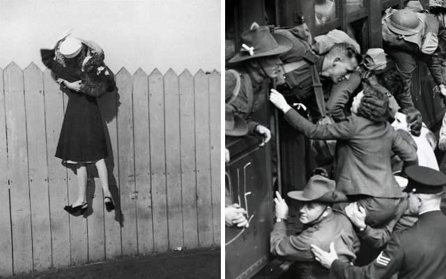 Исторические фотографии, о любви в военное время