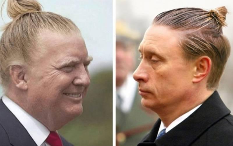Как бы выглядели мировые лидеры, если бы носили пучок на голове