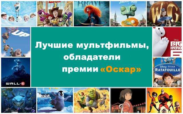 Лучшие мультфильмы, обладатели премии «Оскар»