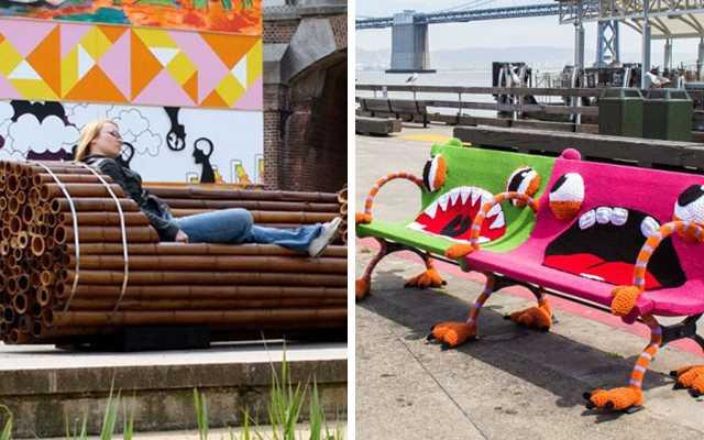Самые необычные и причудливые скамейки со всего мира