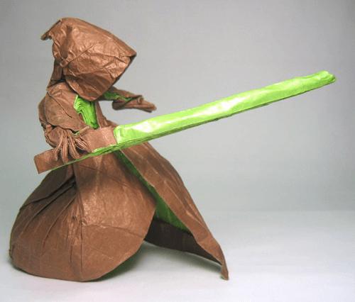 Последний воин-джедай с мечом зеленого цвета