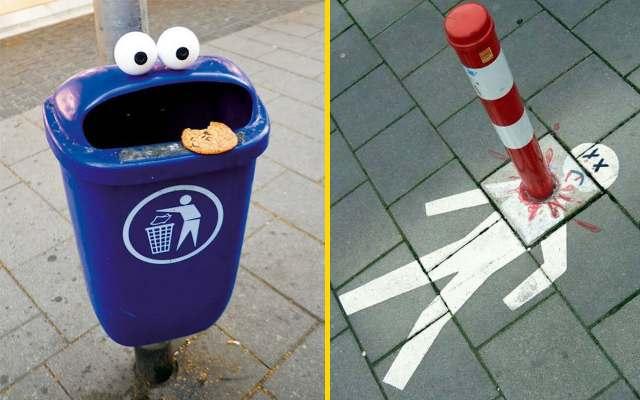 Смешные и оригинальные примеры уличного вандализма