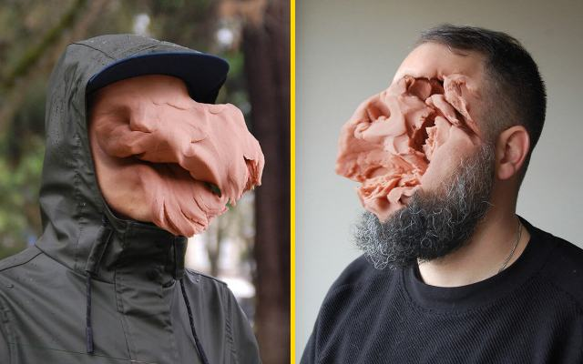 Ужасные человеческие лица, в стиле Гротеск португальского художника Хосе Кардозо