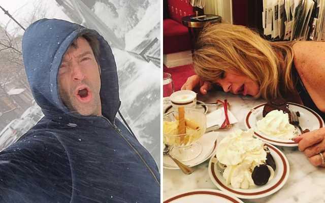 Знаменитые мировые звезды тоже публикуют в Instagram странные и смешные фото