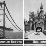 фотографии известных достопримечательностей во время строительства