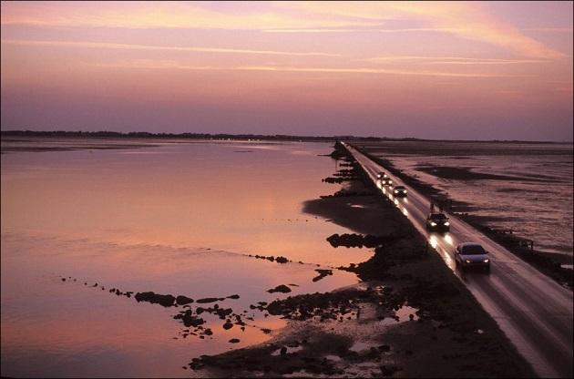 Дорога Пассаж дю Гуа(Passage du Gois), Франция