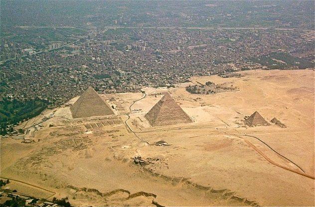 Пирамиды вид сверху