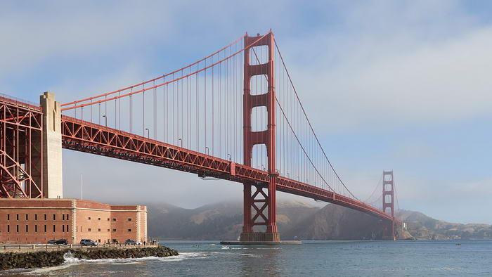 Мост Золотые Ворота, Сан-Франциско, Америка