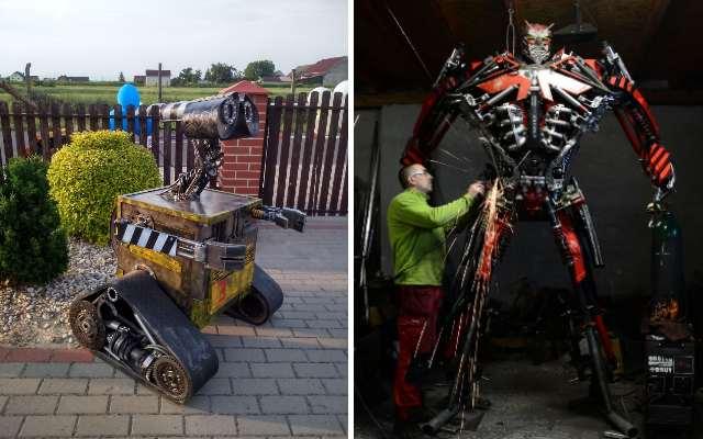 Польский художник Себастьян Кухарский, превращает металлолом в невероятные скульптуры