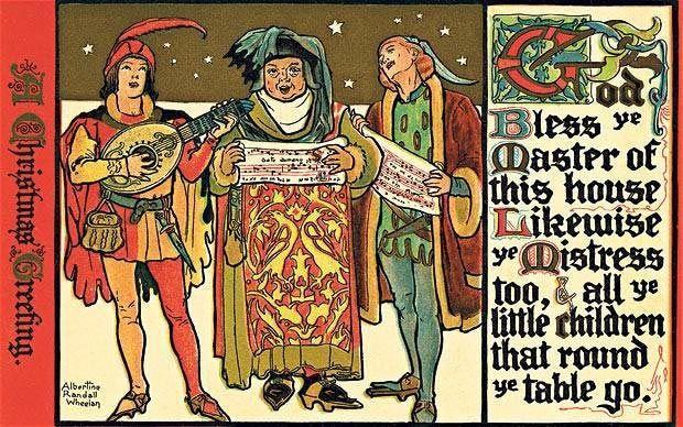 Пение рождественских гимнов