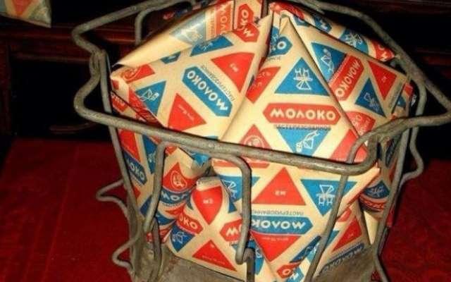 Треугольный пакет для молока