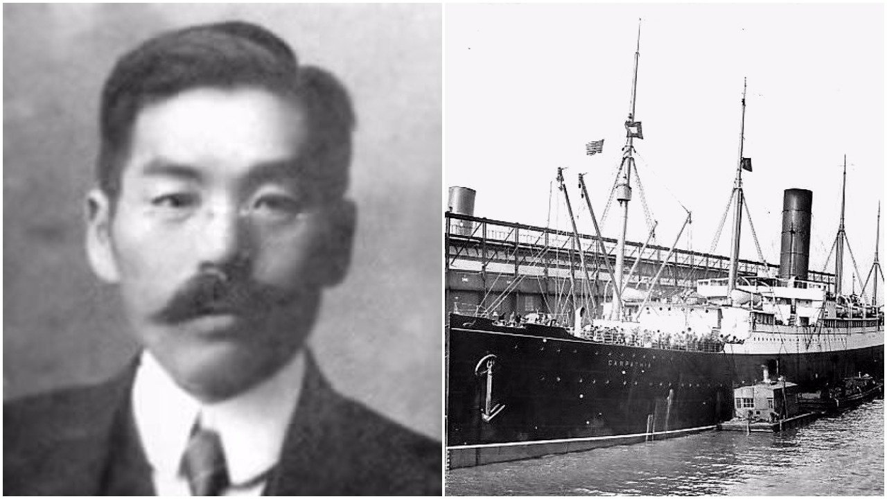 Японского выжившего на «Титанике