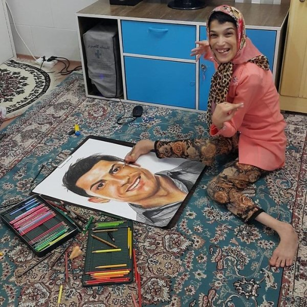 портрет Криштиану Роналду