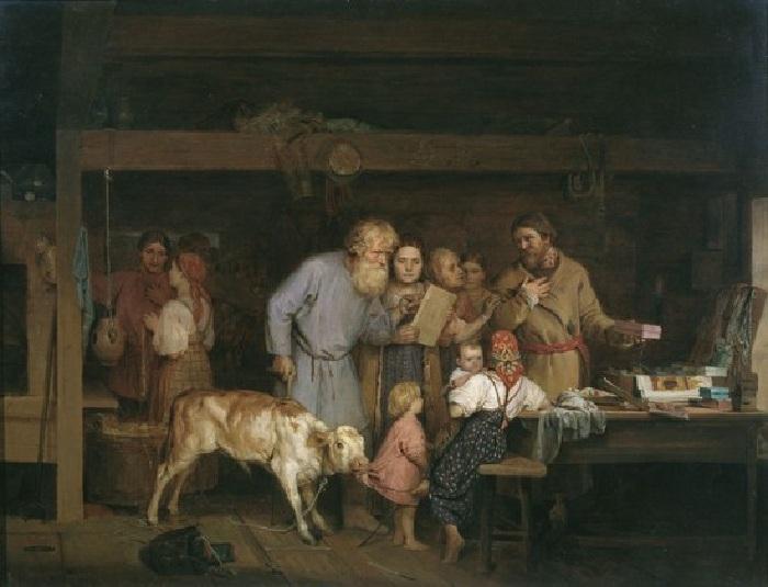 «Офеня-коробейник». Автор: Николай Кошелев.