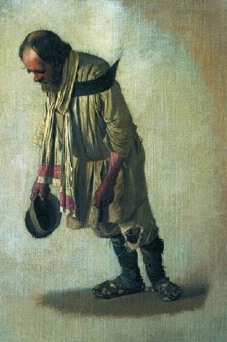 «Бурлак с шапкою в руке» Автор: В.В. Верещагин.