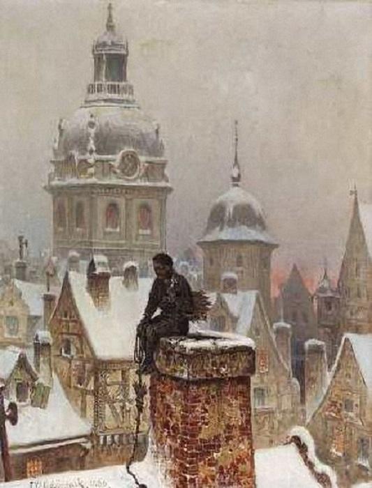 Трубочист. (1880). Автор: Франс Вильгельм Одельман