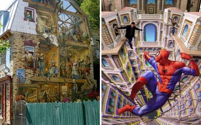 Это удивительное 3D стрит-арт искусство
