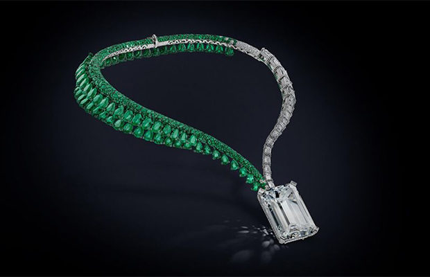 Самое дорогое колье года с бриллиантами и изумрудами — de Grisogono