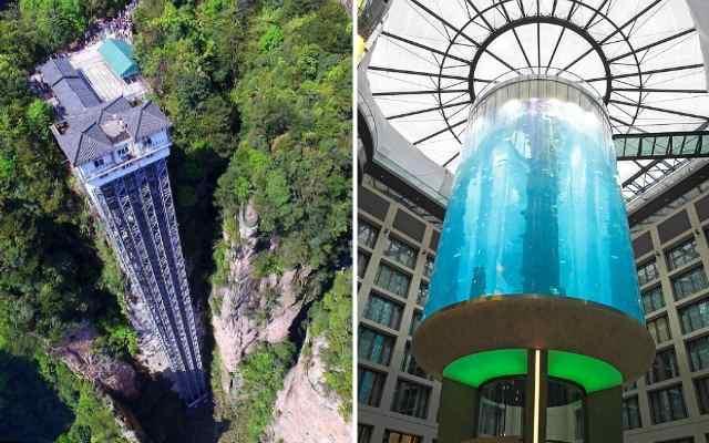Самые необычные современные лифты со всего мира
