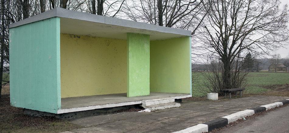 Фотограф: Кристофер Хервиг (Christopher Herwig). Советская автобусная остановка — Литва, г. Рокишкис