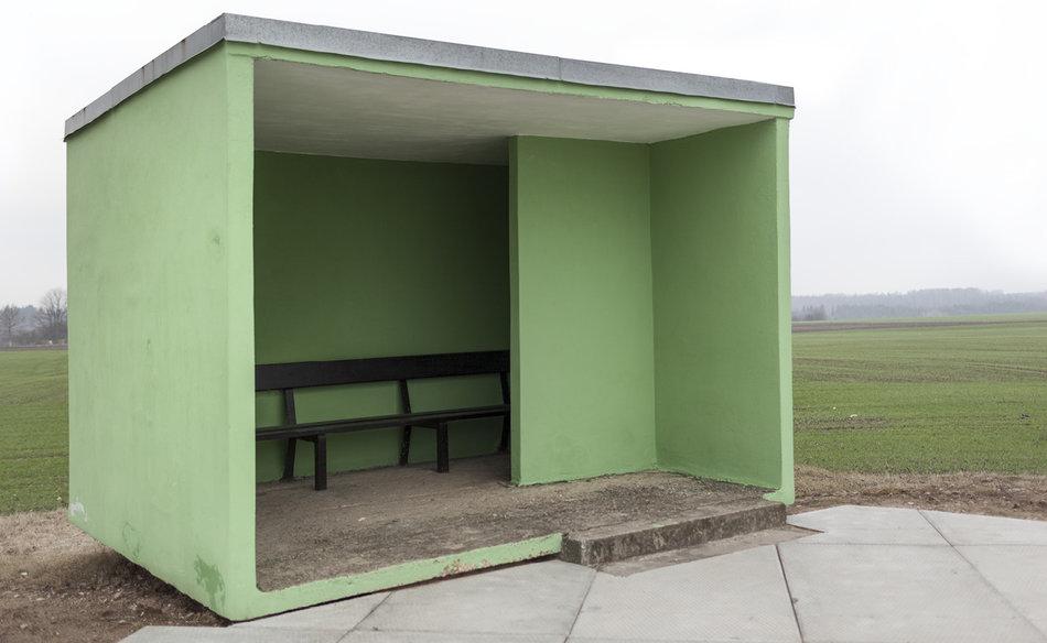 Фотограф: Кристофер Хервиг (Christopher Herwig). Советская автобусная остановка — Литва, г. Skverbai