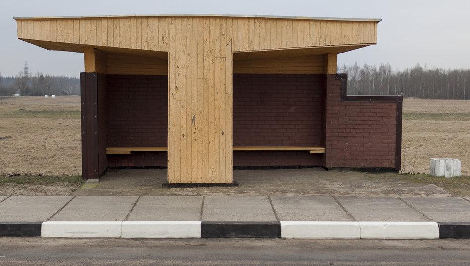 Фотограф: Кристофер Хервиг (Christopher Herwig). Советская автобусная остановка — Литва, г. Vosgeliai