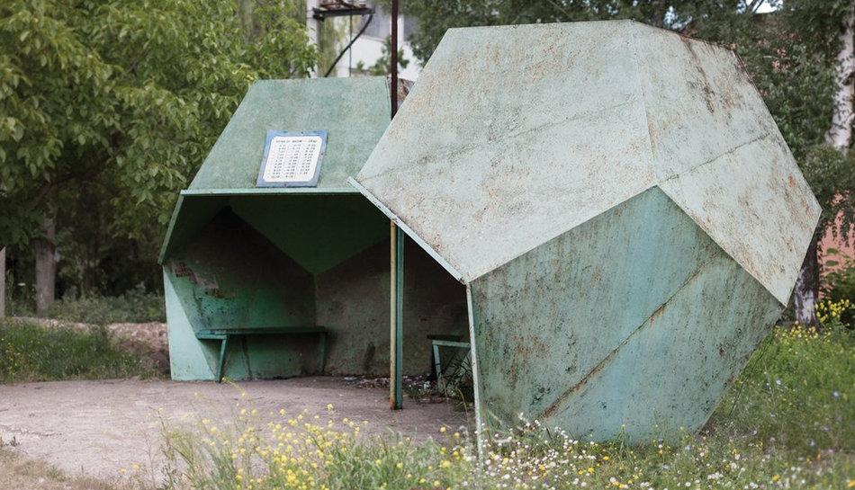 Фотограф: Кристофер Хервиг (Christopher Herwig). Советская автобусная остановка — Молдова, г. Фалешты