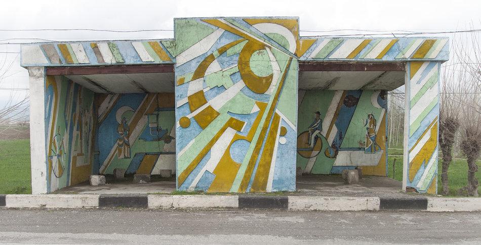 Фотограф: Кристофер Хервиг (Christopher Herwig). Советская автобусная остановка — Узбекистан, г. Термез