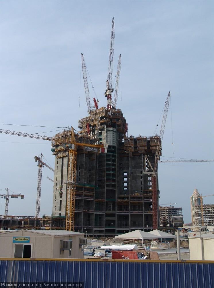 A Burj Khalifa építési szakaszai