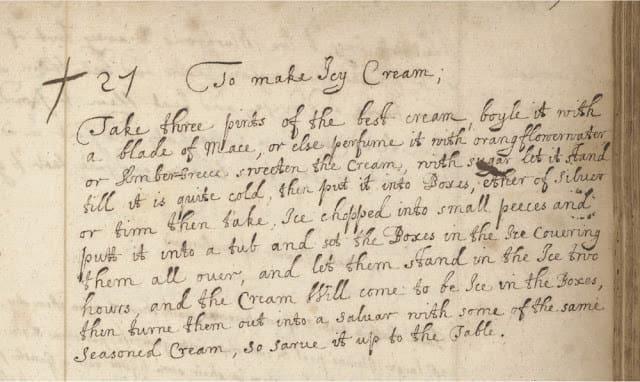 Первый рецепт мороженого