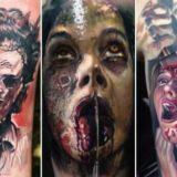 30 жутко крутых татуировок, по мотивам фильмов ужасов