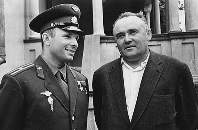 Гагарин и Королёв, 1961 год