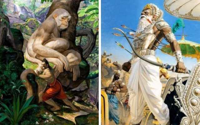 Итальянский художник изучалМахабхарати написал эти захватывающие картины за 12 лет