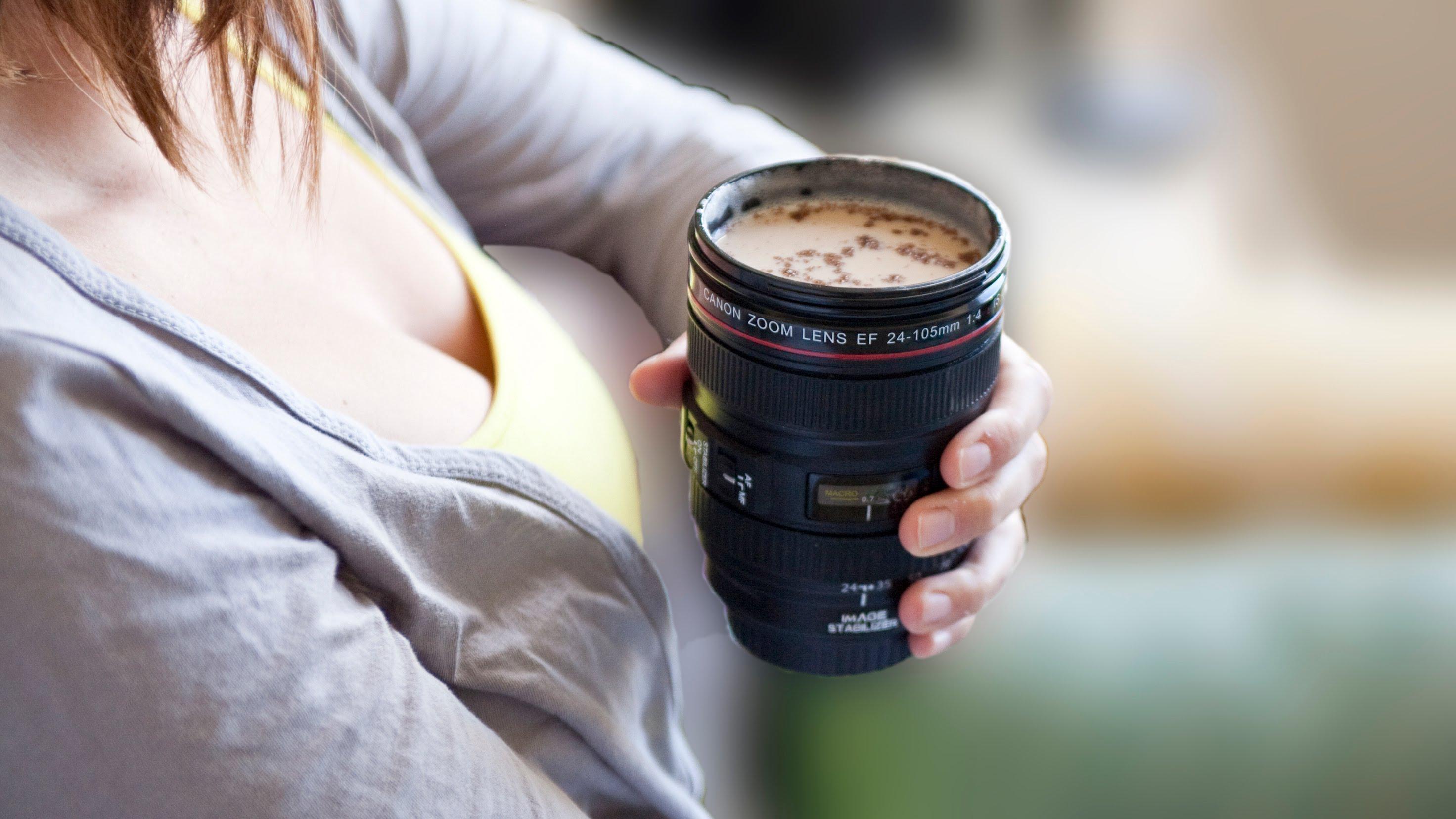 Кружка - Объектив для фотоаппарата
